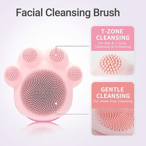 Melodysusie - cat paw shape - Facial Cleansing and Massage Brush with Sonic Cleansing Technology