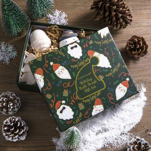 Body & Earth 6pcs Christmas Themed Bath Bombs in Beautiful Gift Box