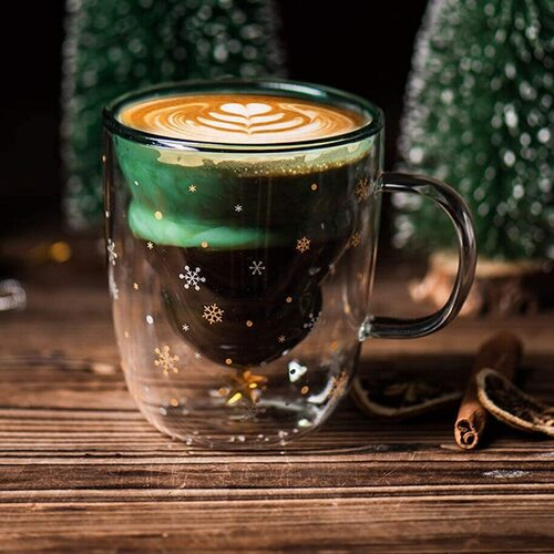 Christmas Mug Double Walled Glass by Marbe