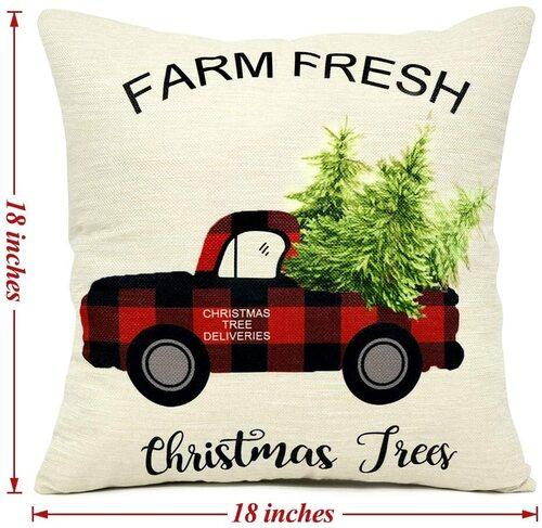 EZIGO Beautiful Christmas design Throw Pillow Covers Set of 4 for Xmas Decor