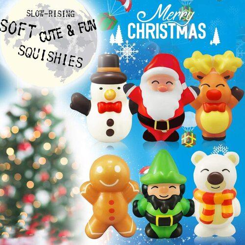 Heytech 6pcs Squishies Toys Xmas Gift Set