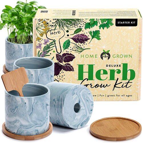 HOME GROWN Indoor Herb Garden Starter Kit Gift Set