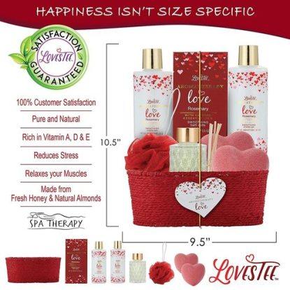 Lovestee Premium SPA Valentine's Day Gift Basket for Women
