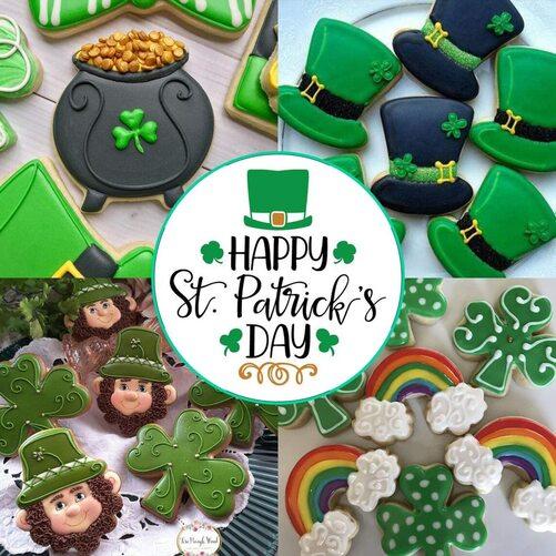 12pcs Large Size Cookie Cutters for St. Patrick's Day