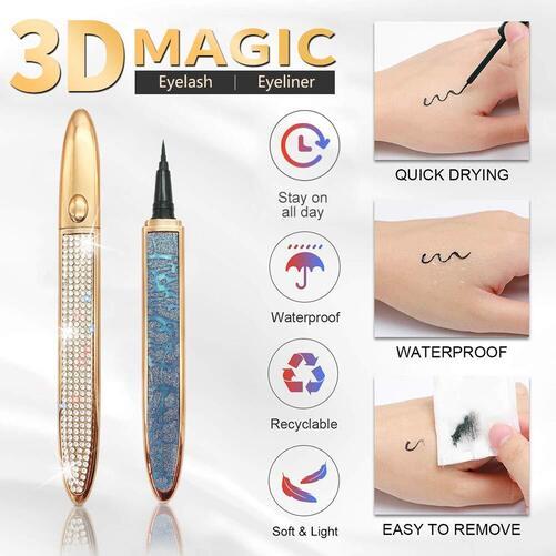 GXO BEAUTY Magic Eyelashes with Eyeliner Set
