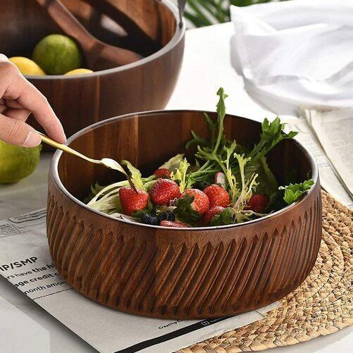 wood salad bowl perfect gift