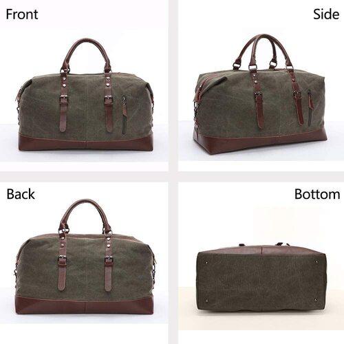 TELOSPORTS Weekend Travel Bag with Shoulder Strap for Men or Women