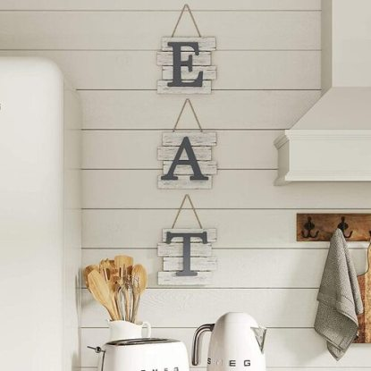 Barnyard Designs Rustic Wooden Eat Sign for Kitchen Wall Decoration
