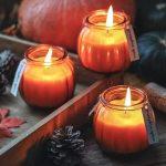 FUND AMLIGHT pumpkin shaped jar candle set