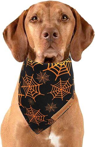Realeaf 2 pcs Halloween Bandanas for Dogs