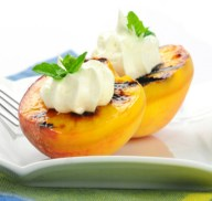 Grilled Glazed Peaches