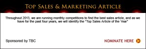 Top Sales & Marketing Article Nominations