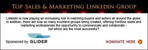 Glider sponsor Top Sales & Marketing LinkedIn Groups 2013