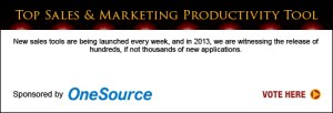 Top Sales & Marketing Awards Productivity Tool 2013