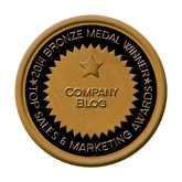 Bronze Medal - Company Blog 2014 Top Sales & Marketing Awards