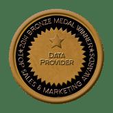 Bronze Medal - Data Provider 2014 Top Sales & Marketing Awards