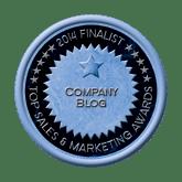 Finalist Medal - Company Blog 2014 Top Sales & Marketing Awards