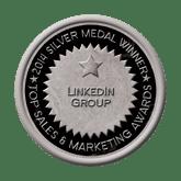Silver Medal - Linkedin Group 2014 Top Sales & Marketing Awards