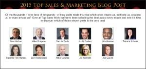 Top Sales & Marketing 2015 Blog Post