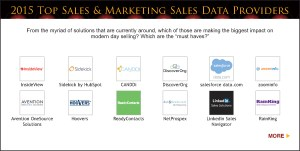 Top Sales & Marketing Awards 2015 Sales Data Provider