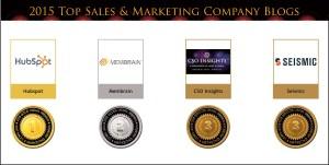 2015 Top Sales & Marketing Company Blog Medals