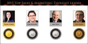 2015 Top Sales & Marketing Thought Leader Medals