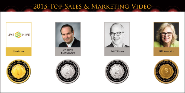 2015 Top Sales & Marketing Video Medals