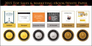 2015 Top Sales & Marketing eBook/White Paper Medals