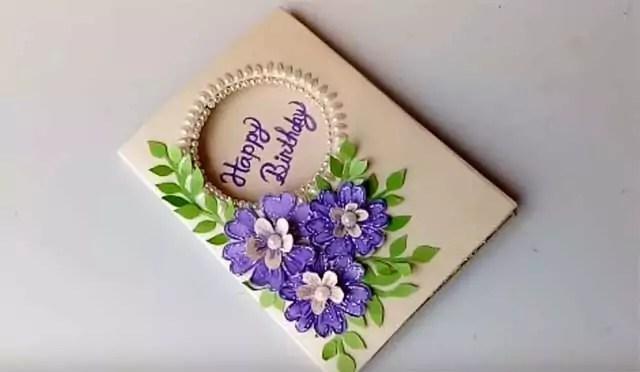 โปสการ์ดด้วยดอกไม้