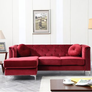 seating furniture red sectional sofa