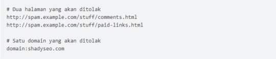 masukkan daftar link spam ke dalam notepad
