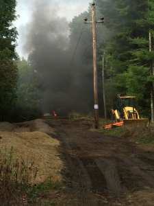 Topsfield Fire Department Extinguishes Truck Fire