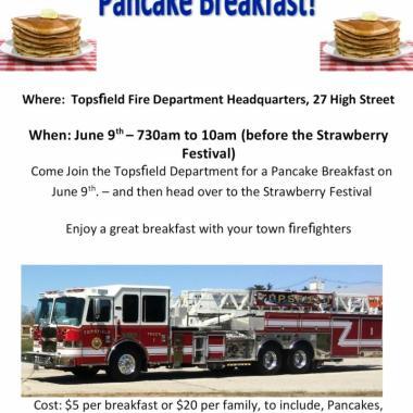 Topsfield FF's Relief Assn. Hosts Annual Breakfast
