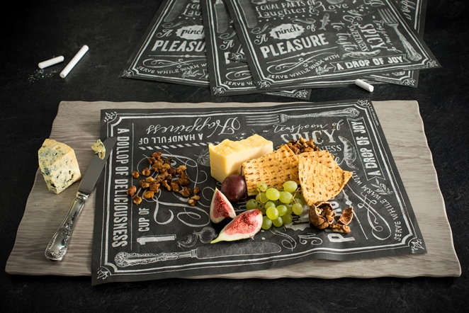 TopStyle Chalk it up! Blackboard-style Waxed Food Paper, 39x30cm Pk 500