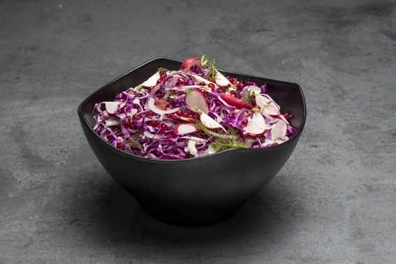 Zen Square Round Bowl Small with cabbage salad