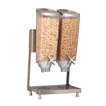 3 container bulk food dispenser with different breakfast cereals