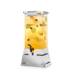 Beverage Dispenser Stainless Steel Square