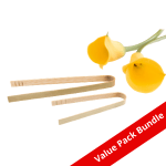Bamboo Tongs VALUE PACK BUNDLE