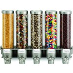 Multi Cone Wall Mounted Container with various toppings