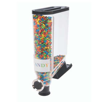 Bulk foods Dispenser Shelf Mounted with colourful chocolate candies