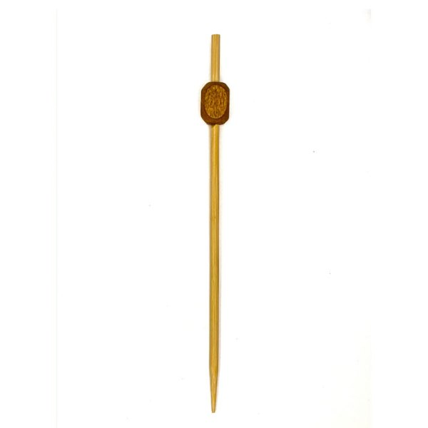 Bamboo Square Bead Pick 12 cm