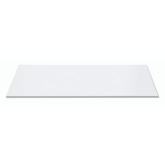 Wide Rectangle White Acrylic Surface