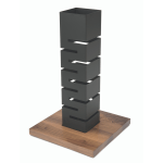 Tall Column Multi-Level Buffet Riser – Black Matte