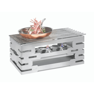 Warmer With Grill-Top – Stainless Steel