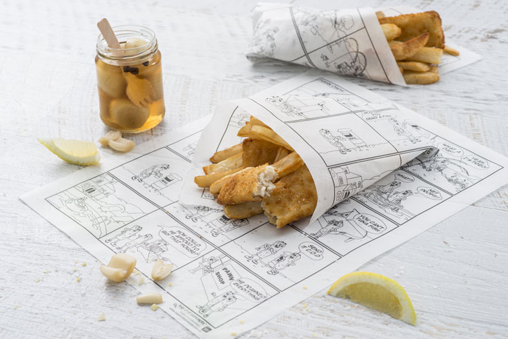 Waxed Food Paper for Fish and Chips