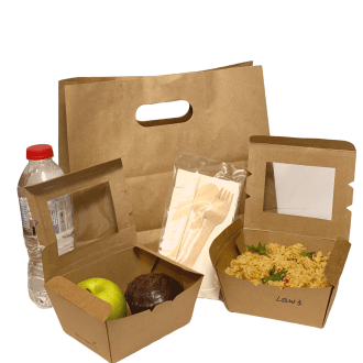 Takeaway Lunch Set of Containers