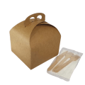 Takeaway meal box and cutlery, hygienic takeaway container options
