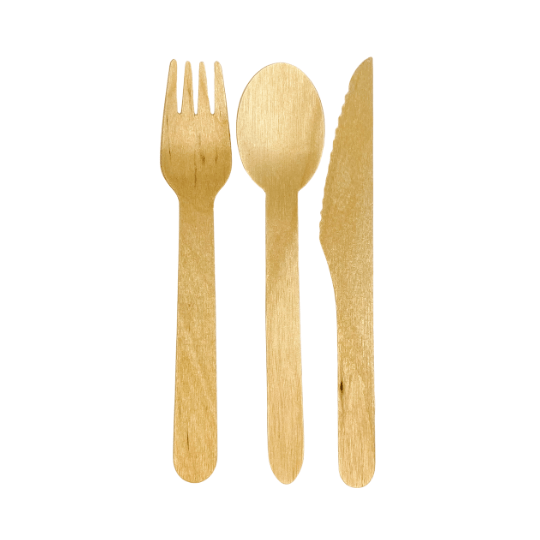 Disposable Wooden Cutlery Set disposable spoon takeaway fork and knife