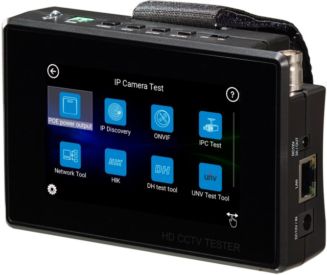 4'' Multifunction Tester Monitor for IP AHD TVI CVI Cameras
