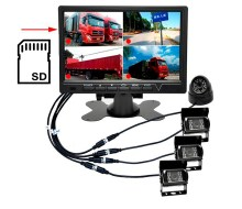 7'' AHD car monitor with quad and recording function